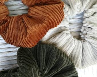 Black gold and brown velvet #025 Velvet Scrunchies Set 3x handmade scrunchies