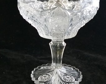 EAPG Imperial Glass #505, the Bellaire pattern. Introduced in 1913 Jelly Compote