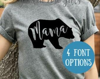 Mama Bear T-Shirt | Mama Bear Shirt | Mom Shirt | New Mom | Mom-to-be | Baby Announcement Shirt | Pregnancy Announcement | Bear Family Shirt