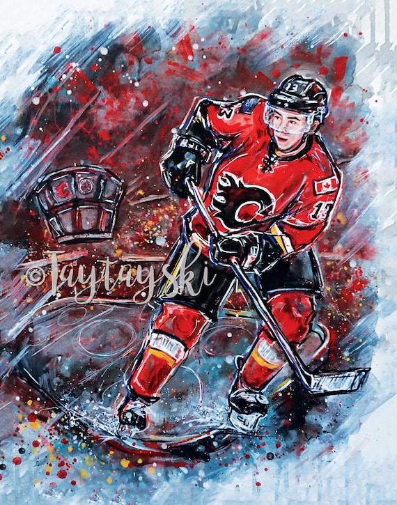 Johnny Hockey Calgary Flames Fan Art Etsy