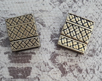 Bronze or gold plated magnetic clasp for bracelet 12mm