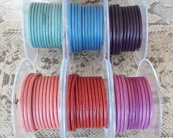 Round cord 3 mm high quality European leather