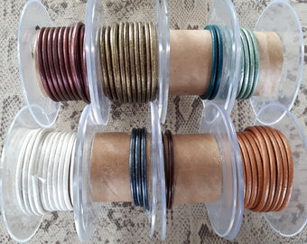 Cord 3 mm round high quality European leather