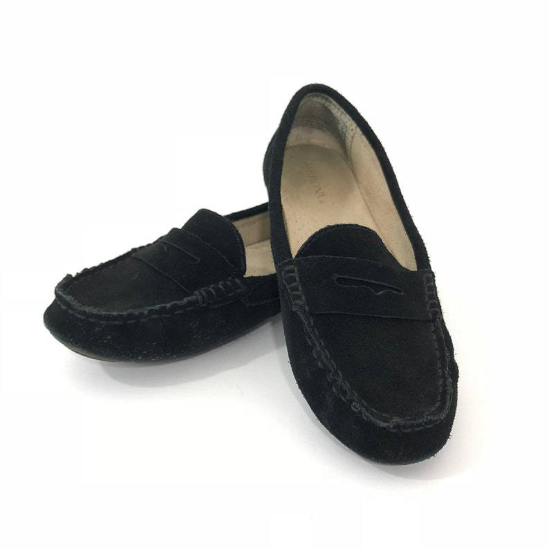 923c1749af8 Vintage suede loafer womens black suede loafer vintage