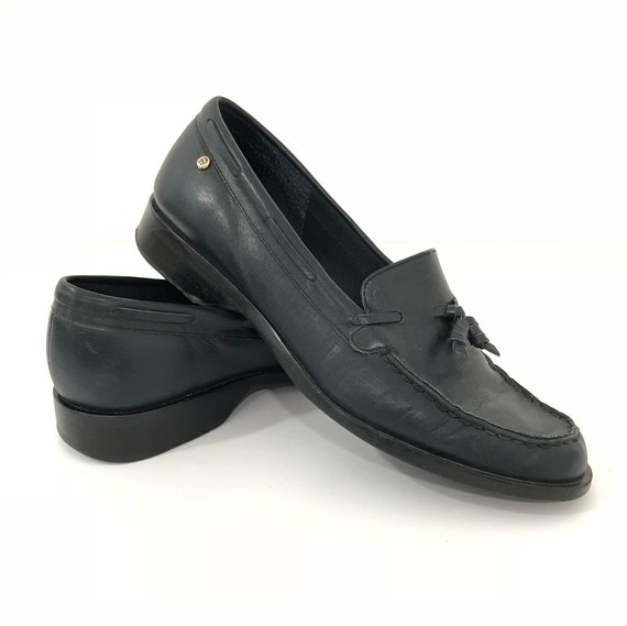 38a9ae558fe vintage leather loafers womens loafers vintage navy