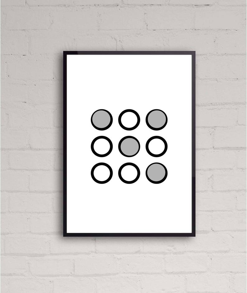 Abstract Shapes | Circles | Geometry | Printable Wall Art Design | Home  Decor | Instant Download | Various Sizes | Contemporary Art