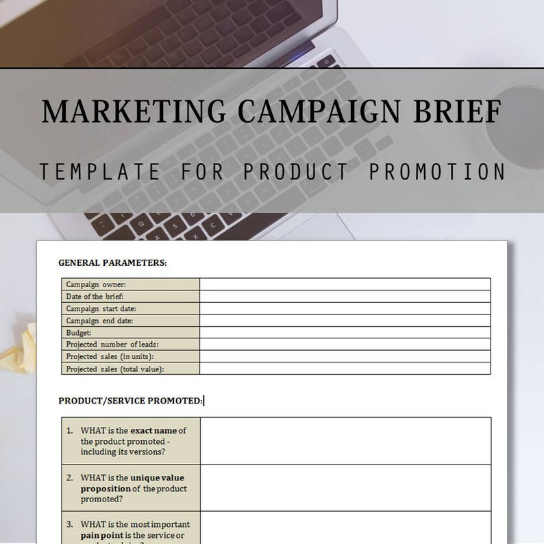 marketing campaign brief template and checklist in ms word. Black Bedroom Furniture Sets. Home Design Ideas