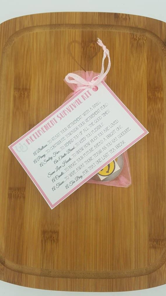 good luck. Retirement gift /& card *Novelty Survival Kit* present to say goodbye