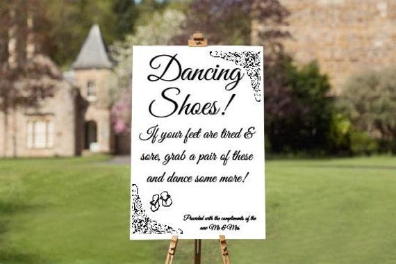 0b489e235 Flip Flops Wedding Sign new shoes dancing shoes sore
