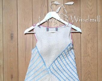 Patchwork asymmetric knitted dress