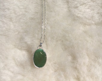 """Royston turquoise sterling silver necklace 16"""""""