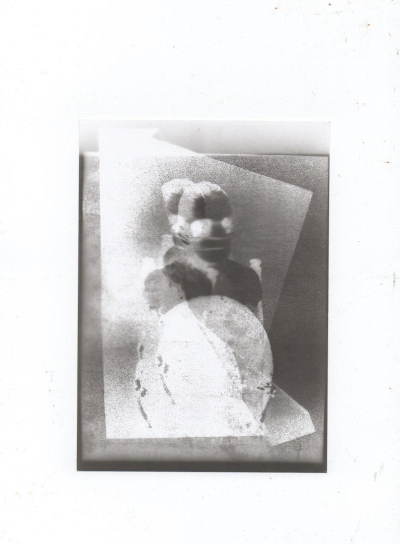 Handmade Photograph Minimalist Wall Art Gothic Nude Human Figure 35mm Black and White Photograph