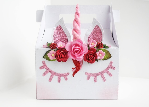 Unicorn Gable Box Valentines Day Valentines Day Box Party Etsy