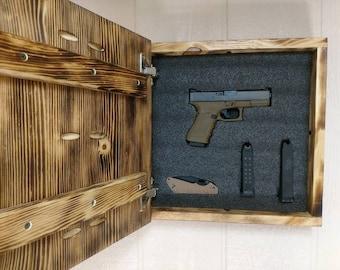 Superbe Hidden Gun Storage Doc Holliday Wall Art Box