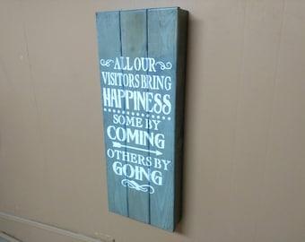 Visitors Bring Happiness  Large Concealment Wall Art Box