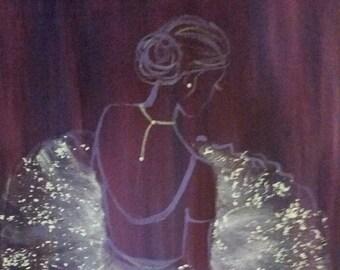 Au Repose - Original acrylic painting on canvas