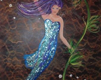 Mermaid Painting-Original acrylic painting
