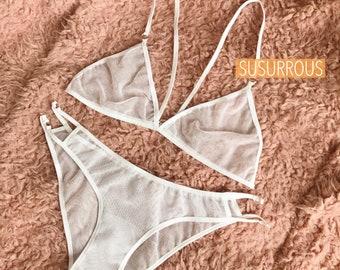 """Lingerie set """"Daria"""" white Susurrous"""