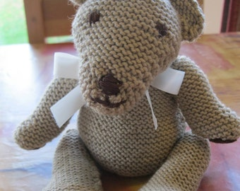 Hand-knitted bear