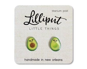 Kawaii Avocado Earrings // Cute Avocado Earrings // Best Friend Gift // Funny Earrings // Adorable Avocado Earrings