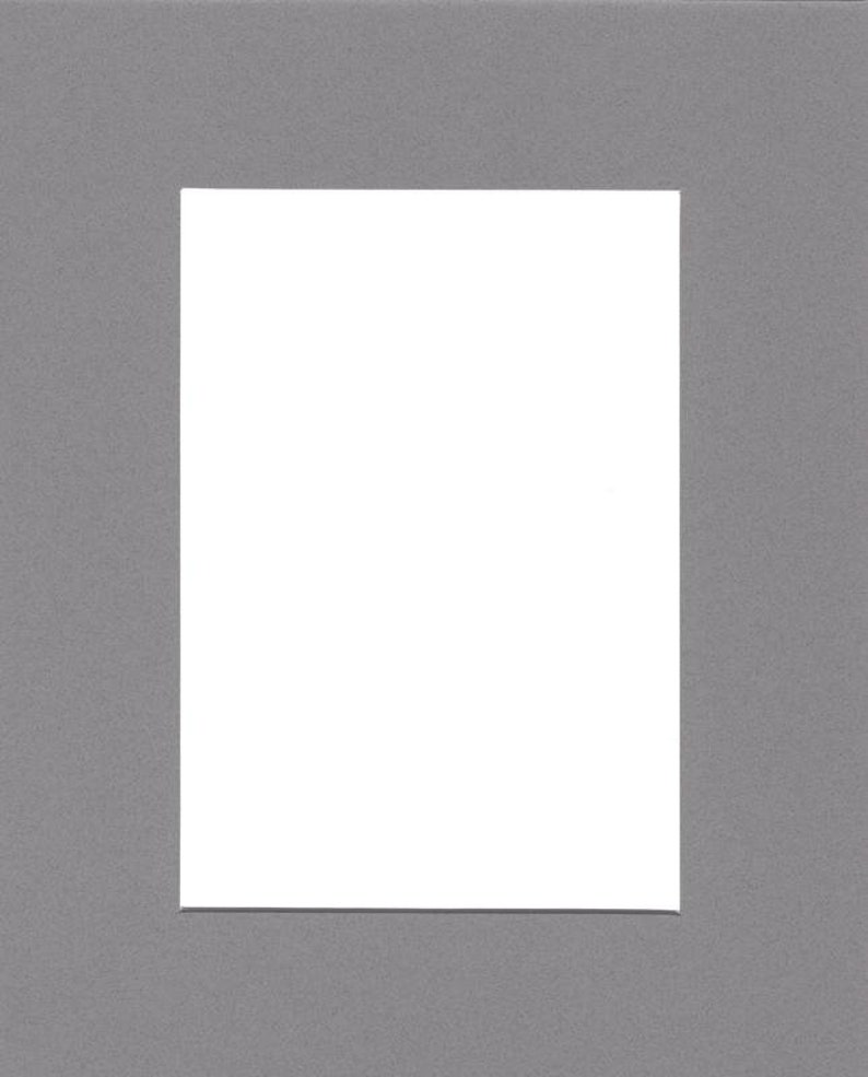 Pack of 2 24x36 Acid Free White Core Picture Mats cut for 20x30 Pictures in Ocean Grey