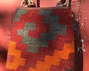 Vintage Franco Sarto Kilim Handbag