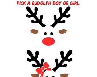 Rudolph/Decals/Cups/Shirts/Iron-ons/Tumblers/Raindeer