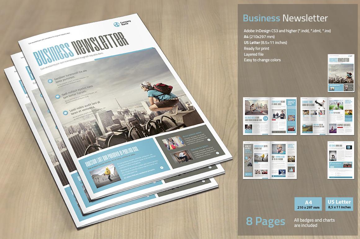 Boletín de negocios impresión plantilla Plantilla de