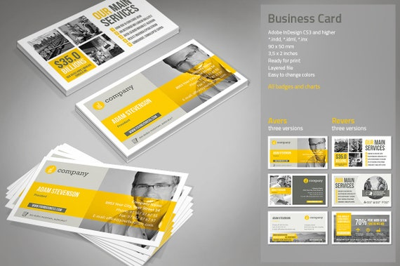 Cartes De Visite Template InDesign