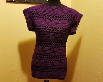 Crochet Mini Sleeve Top
