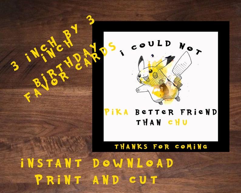 Pokemon Birthday Gift Bag Cards Thank You Go