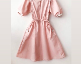 c6c1359c96f0c Vintage Nurse Dress pastel pink 60s 70s