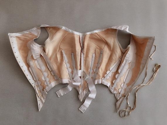 Antique Corset Top Gorgeous Silk Bodice 18th Cent… - image 3