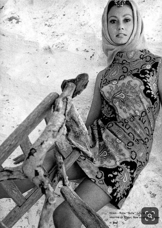 Vintage JEANNE LANVIN 60s 70s Psychedelic Print T… - image 7