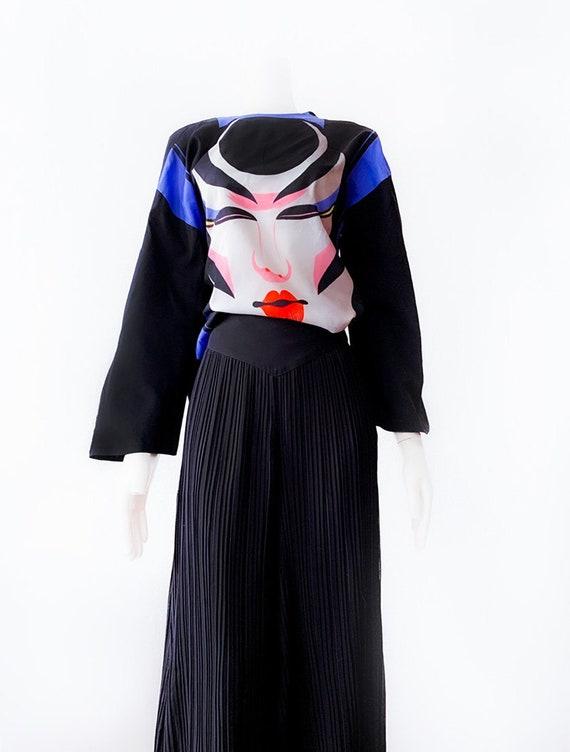 Ossi Originals Loungewear Set 70s Asian Kimono Bl… - image 3