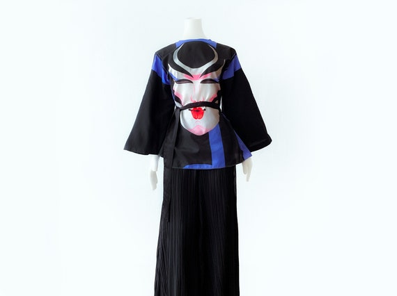 Ossi Originals Loungewear Set 70s Asian Kimono Bl… - image 2