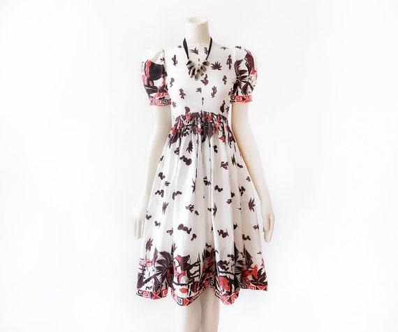 Rare 1940s Mexican Dress Vintage Mexico Petticoat… - image 4
