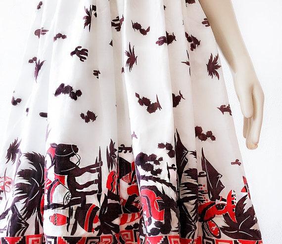 Rare 1940s Mexican Dress Vintage Mexico Petticoat… - image 2