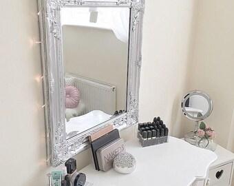 Sophia Ornate Mirror   Vanity Mirror   Silver Mirror   Baroque Mirror    Ornate Frame   Beauty Room   Salon   Spa   Wedding Board