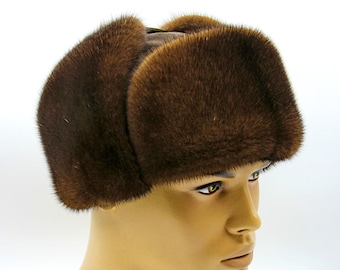 bfac799c5 Mink ushanka hat | Etsy
