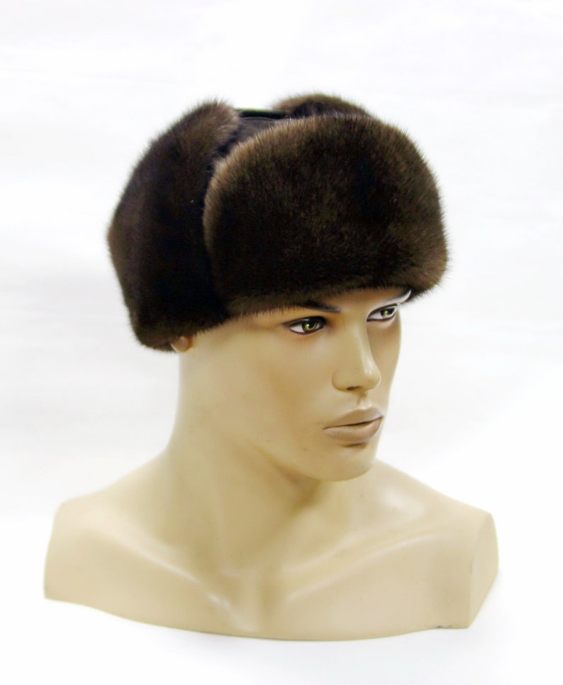 8a72e575629 Mink hat Men s winter hat Winter hatWinter fur hat