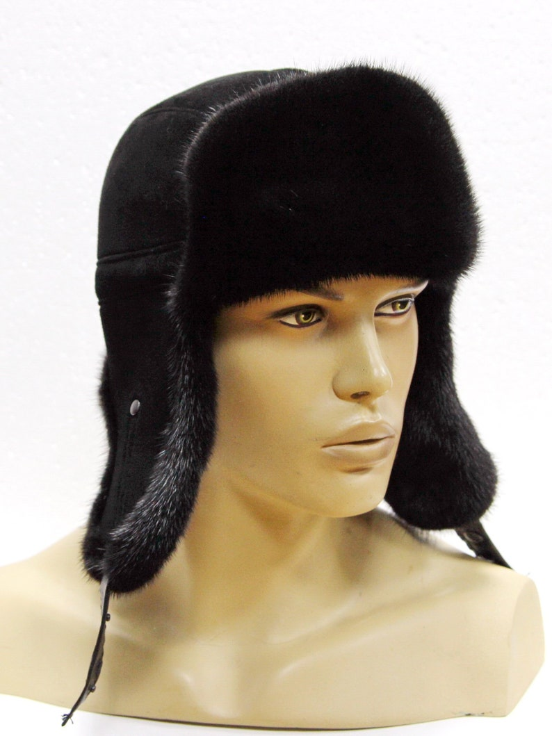 dc65aa2bb7a Winter fur hat Ushanka hat Men s fur hat Russian fur