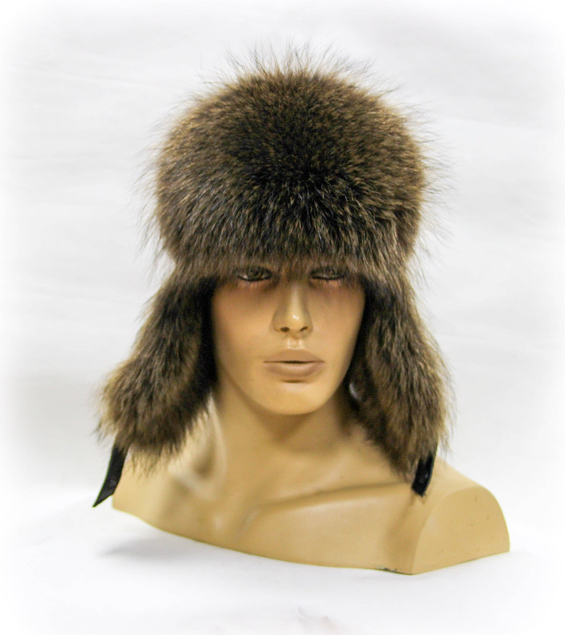 ff53986c8de Winter fur hat and real leather Ushanka hat Men s fur