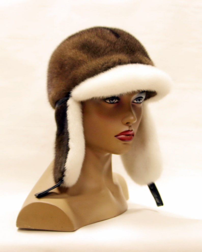afb8ff3dca5a8 Fur Trapper Hat Women Mink Fur HatFur hat Women Fur Hat