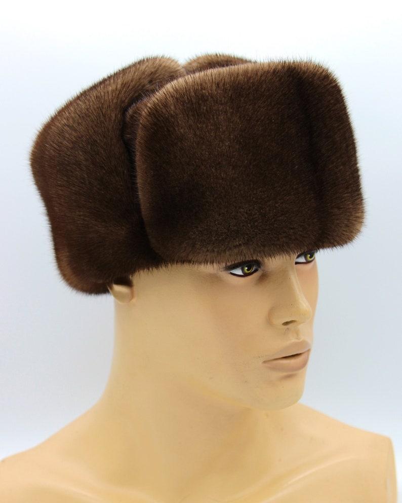 1653be042e Men s Winter Mink Hat Ushanka Ushanka hat Men Winter