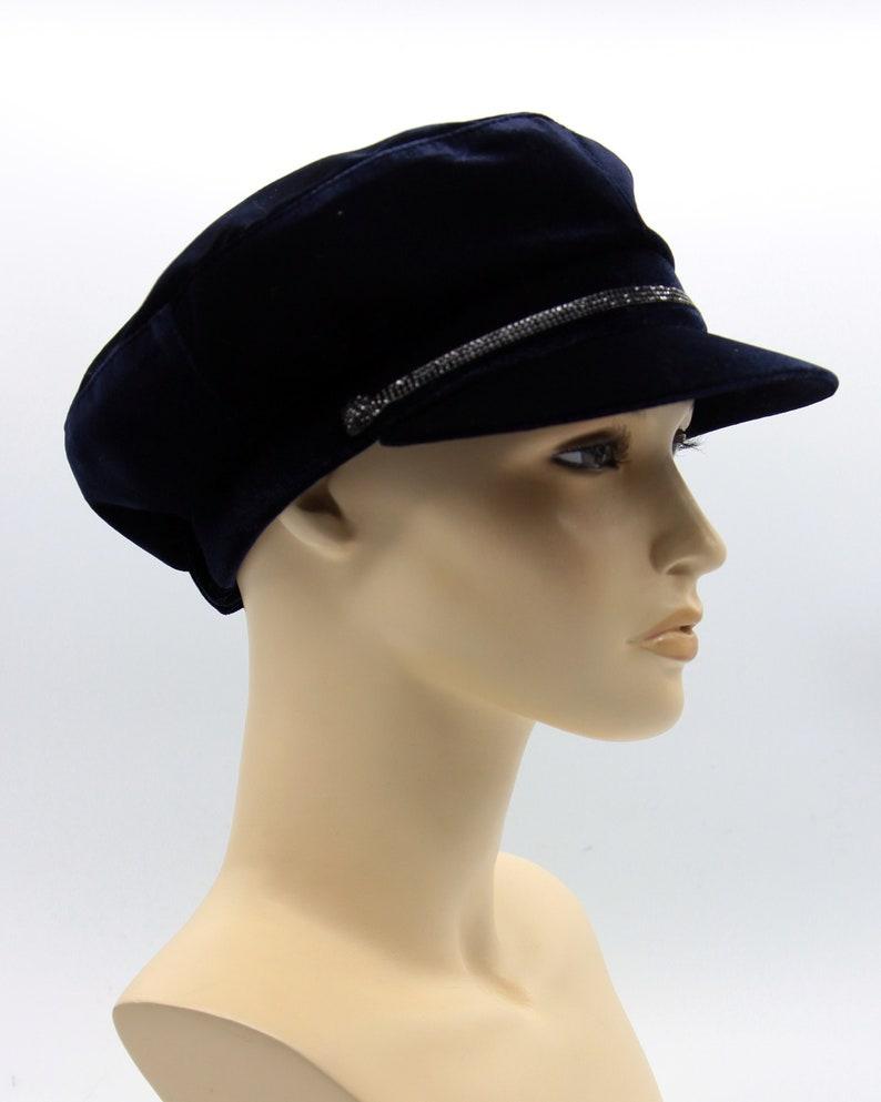 528f8e9a Cap velours breton hat john lennon cap baker cap velours | Etsy
