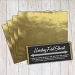 Gold Foil Sheets, Hershey Foil Sheets, Hershey Foil Wrappers, Candy Bar Foil Sheets, Foil Wrappers for Wrapping 1.55Oz Hershey Bars