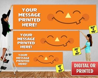 Custom Personalized Halloween Banner Decoration, Custom Banner, Personalized Banner, Halloween Banner, Halloween Backdrop Decoration - 106