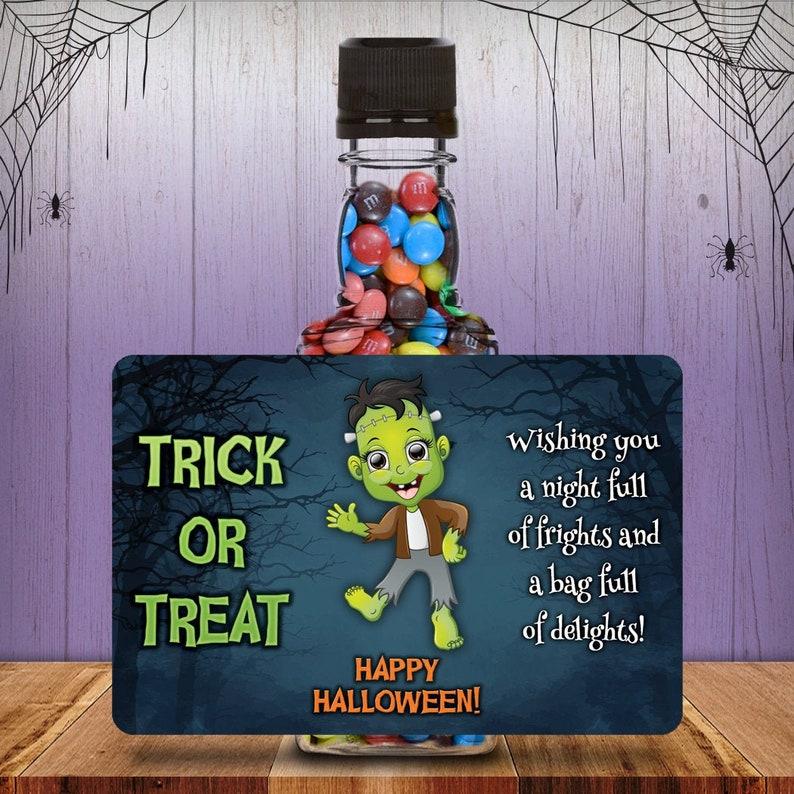 Halloween Costume Monster Square Mini Liquor Bottles Trick Or image 0