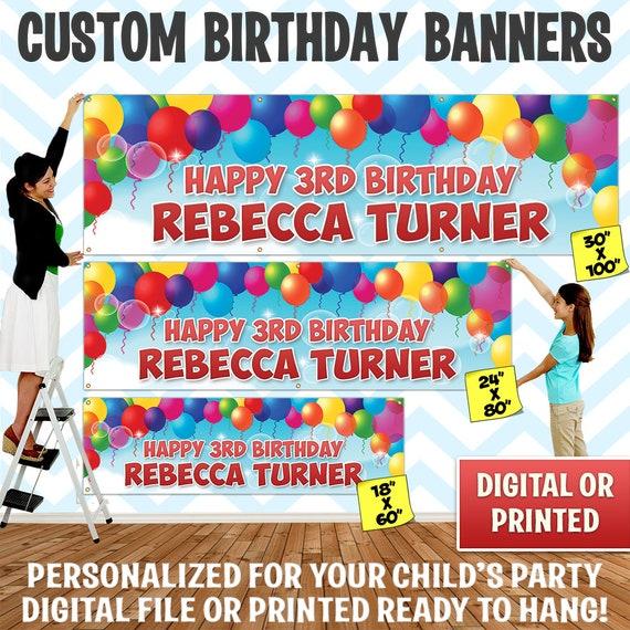 30TH BIRTHDAY PHOTO BALLOON Custom Printed Party Supplies